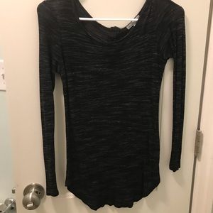 Black Strechy Thin Sweater Material